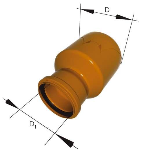 редукция (переход) для труб ПВХ